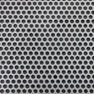R03240 Perforated Metal Sheet: 3.2mm Round, 40% Open Area