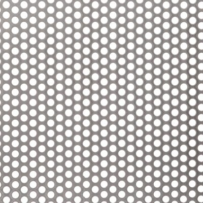 R06440 Perforated Metal Sheet: 6.4mm Round, 40% Open Area